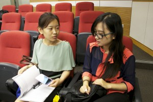 Wang Wei and Ke Pi study business and financial journalism. journalism Photo: Boshika Gupta