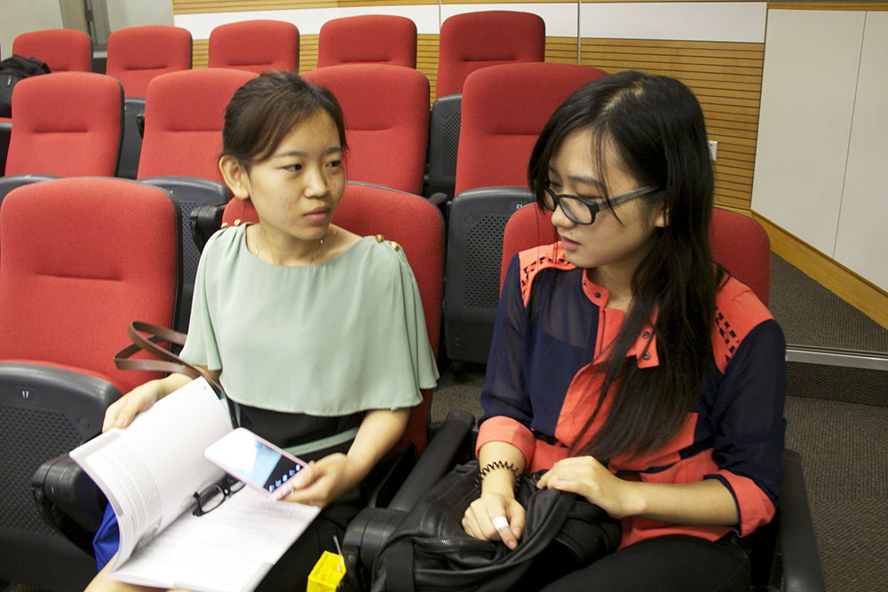 Wang Wei and Ke Pi study business and financial journalism. Photo: Boshika Gupta