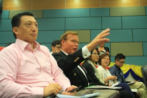 Mike Mosettig, a long time PBS journalist, is a visiting lecturer at HKBU. Photo: Song Cheng