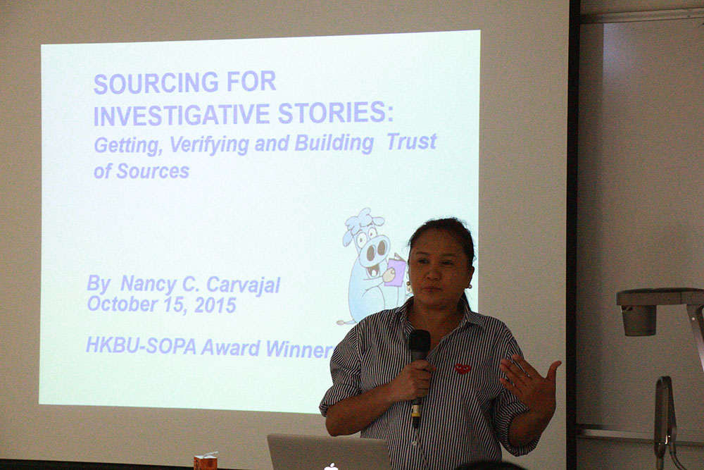 Good reporters should have a good network of good sources,  Filipino reporter says